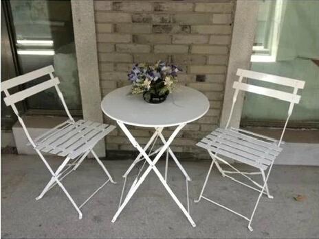 Folding Pro Metal Iron Bistro Set/cafe/patio Garden Chairs
