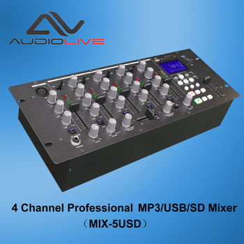 4 Channel Professional Digital Audio DJ Mixer