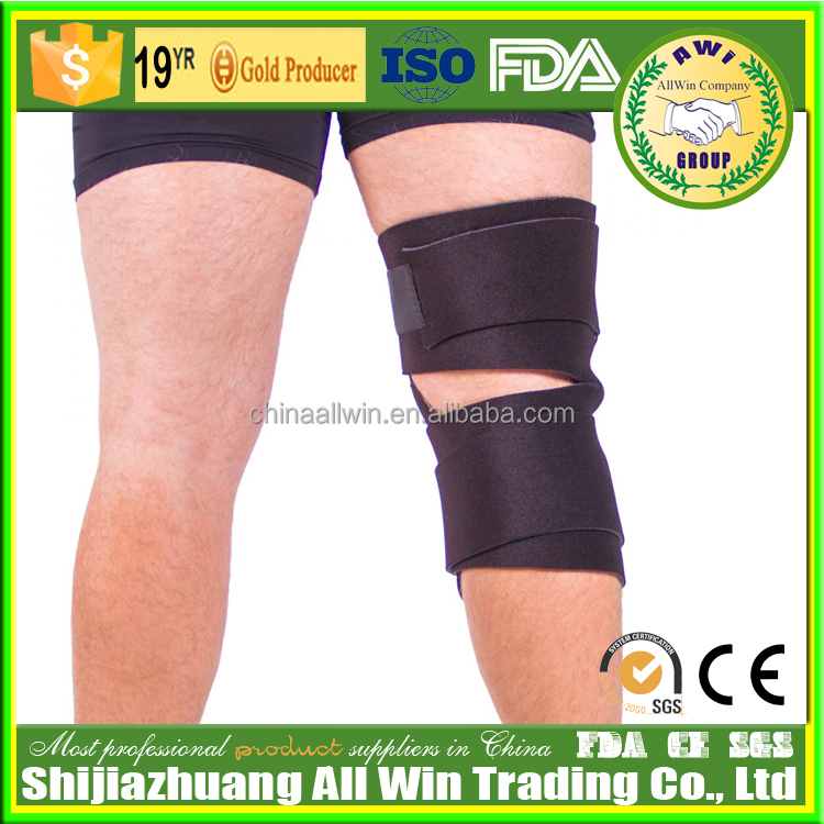 AWI-C14 Adjustable Weight Lifting Training knee Straps Support Braces Wholesale knee sleeve