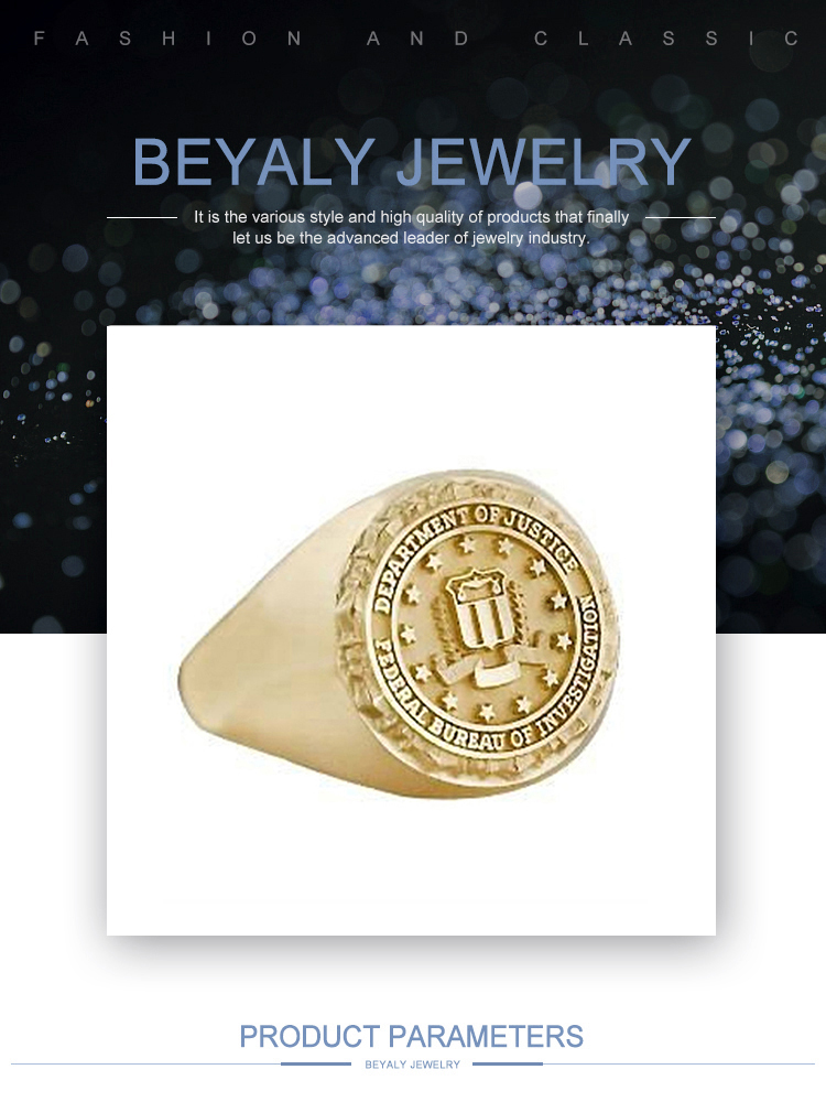 Cheap gold plated custom signet ring for organizations