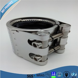 GR-S SS 304 pipe fitting for pvc/pe pipe
