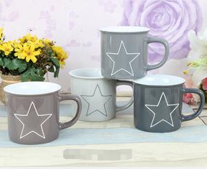 300Ml Enamel Looks Ceramic Coffee Mug Ceramic Enamel Mug