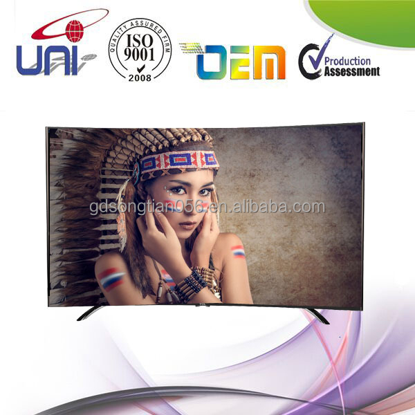 China-made 70 inch Curved Smart 4K 3D Tv for Europe