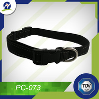 Normal style Nylon reflective black pet dog collar