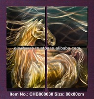 Cotemporary Fashion Unique 3d Horse Painting in Original Handicraft Metal Crafts