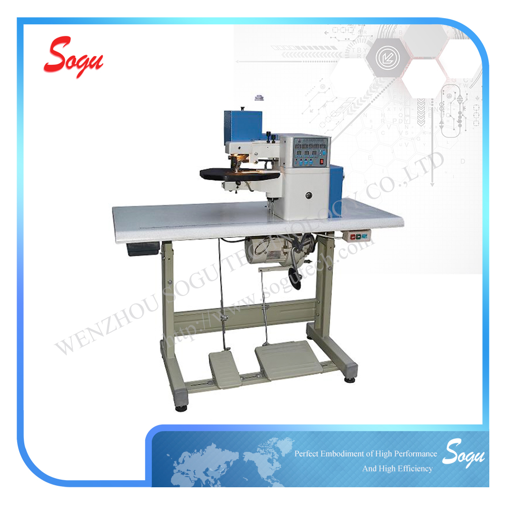 CE ISO type hand folding machine,well used folding gluing machine in shoe industry,industrial folding machine