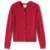 Solid  Plain Pure 100% Cotton Custom Crew Neck Rib Trim Raglan Sleeve School Uniform Sweaters Cardigan For Girls and Boys