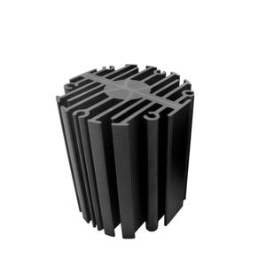OEM die cast extruded aluminum round sunflower type radial heatsink for CPU copper fin