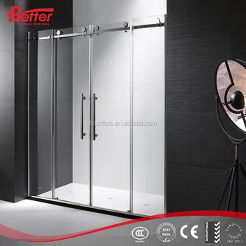 4 panel tempered glass sliding frameless shower doors buy shower 4 panel tempered glass sliding frameless shower doors planetlyrics Images