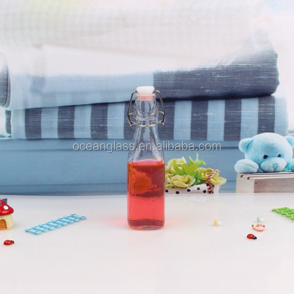 500ml wholesale glass swing top lid milk bottle glass juice bottle glass water bottle