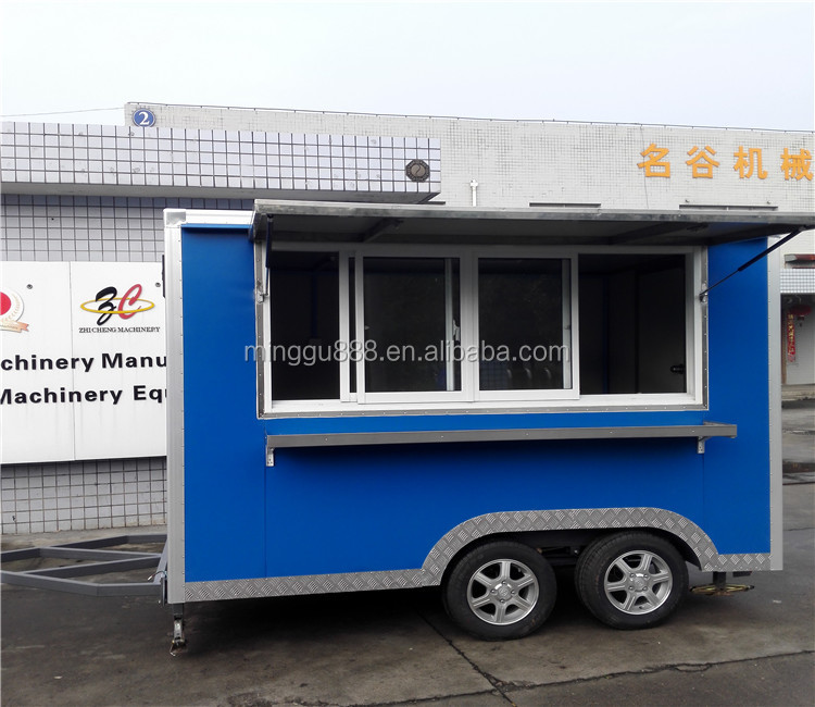 shanghai zhicheng Street snack vending equipment coffee food trailer,hot dog carts,mobile food trucks for sale