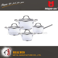 2016 good quality new non-stick cookware kitchen tri-ply stainless steel cookware palm restaurant cookware with lid