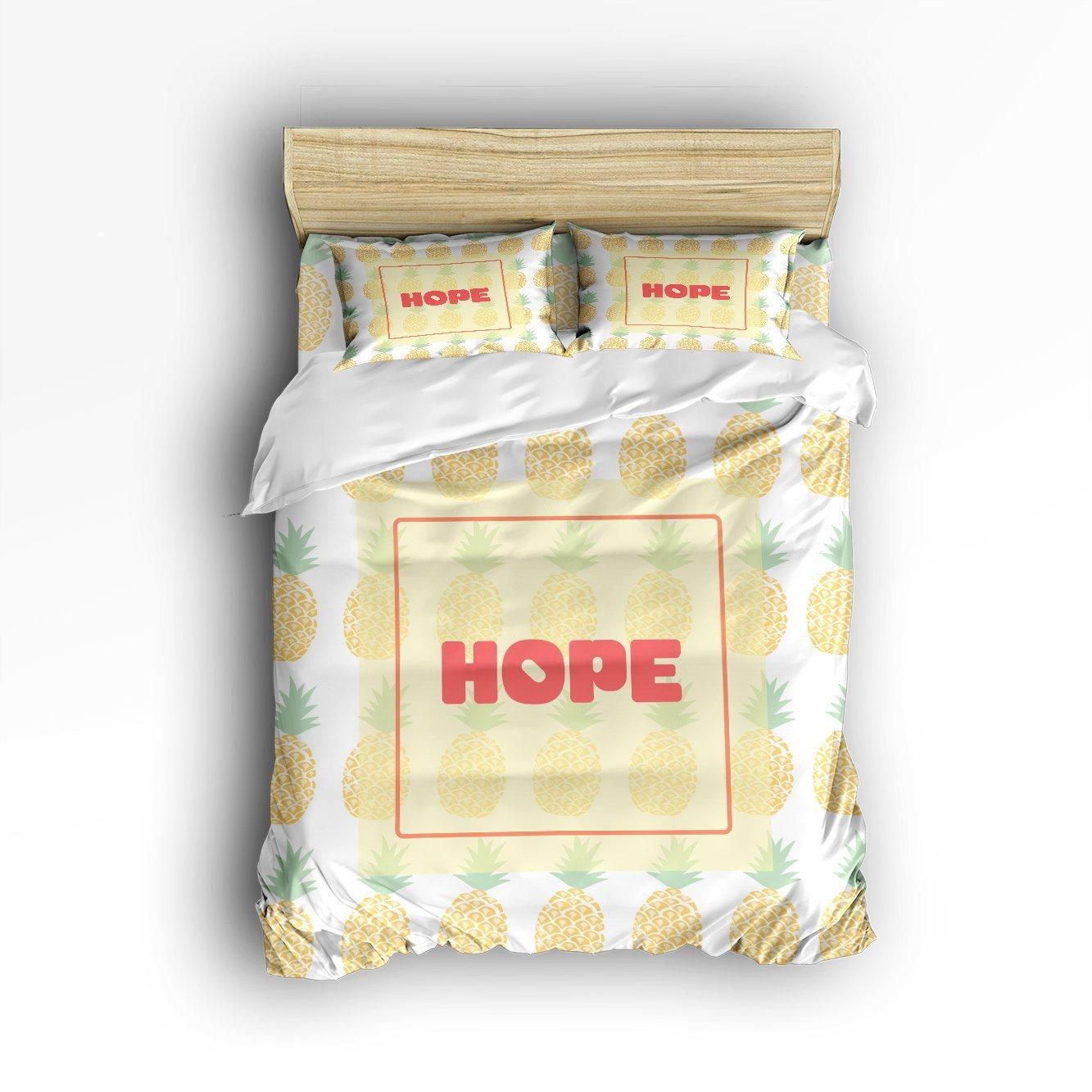 KAROLA Lightweight Microfiber Duvet Cover Set Luxury Soft Duvet Cover Set - Hotel Quality & Hypoallergenic with Zippered Closure HOPE