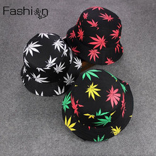 40d08d86428ad8 Weed Bucket Hat Men 2016 New Fashion Adults Print Cap Foldable Cotton  Summer Outdoor Fishing Hats