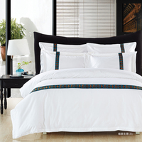 Newest Indian Style Bedding Sets With Embroidery Bed Sheet bed linen