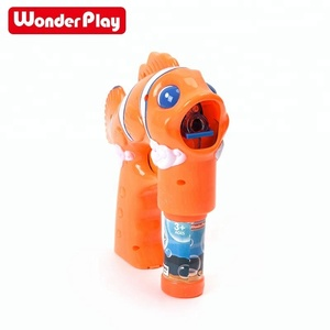 US STOCK Amazon Top Seller 2018 Wonderplay fish bubble gun toy for kids