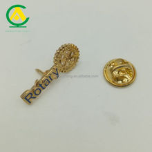 Cut Rotary Shaped Rolling Soft Enamel Metal Rotary Pin Badge for Promotion Gifts