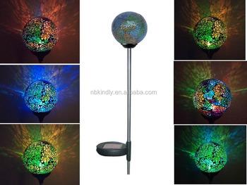 Solar Lampen Tuin : Solarbetriebene mosaik glaskugel garten geht lampe farbwechsel hof