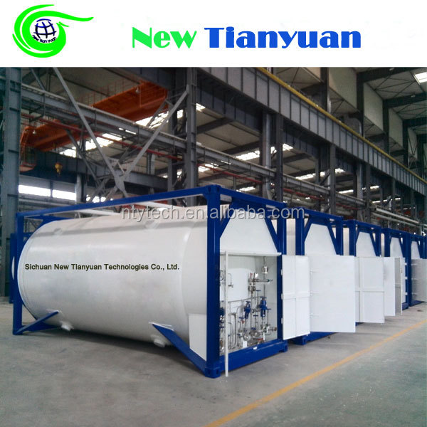 1.8Mpa Working Pressure LNG ISO 20 Feet T75 Cryogenic Tank Container