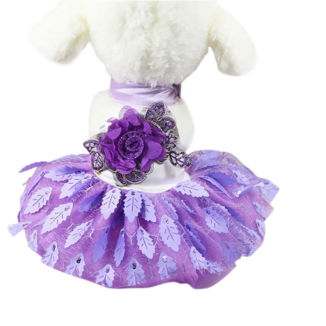 Howstar New Fashion Pet Dress, Dogs Princess Wedding Dress Lace Puppy Cat Skirt Girl Dog Clothes