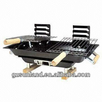 Japanese Style Hibachi Table/Couple BBQ Barbecue Grill, Double Cooking  Grids, Tabletop BBQ