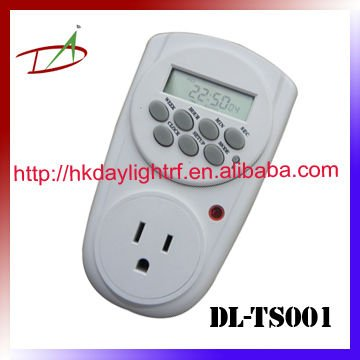 America Type programmble electronic timer socket