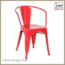 Metal material dining armrest restaurant chair furniture
