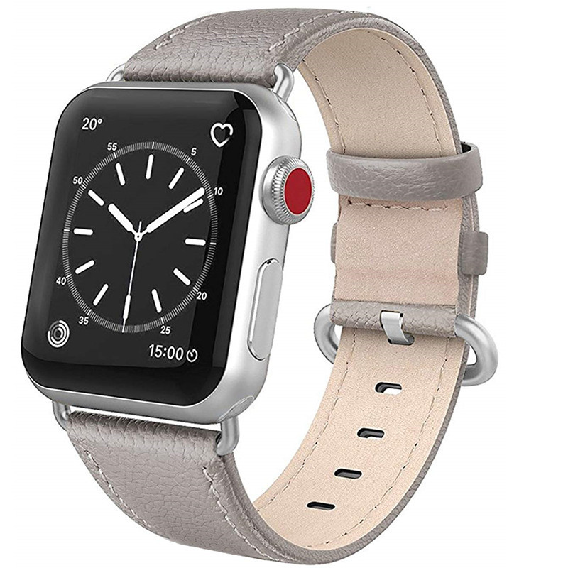 Genuine Leather Vintage Replacement Strap For Iwatch Apple