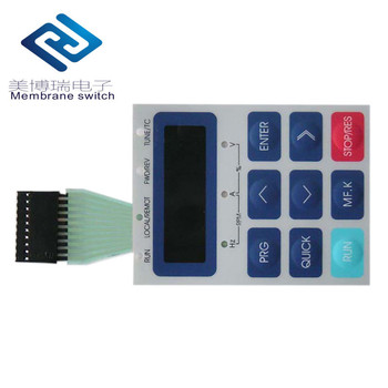 Matte Backlight PC/PET Custom Membrane Switch Keyboard Panel With Transparent Window