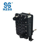 R410A high efficiency single system copper coil plastic steel shell and pipe heat exchanger