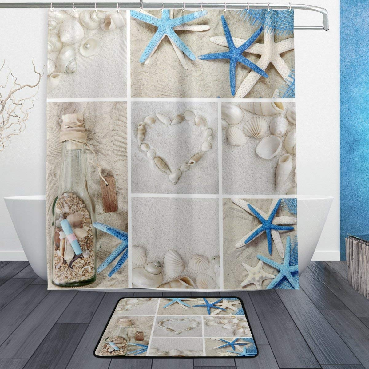 Buy Alaza Set Of 2 Beach Ocean Sea Theme 60 X 72 Inches