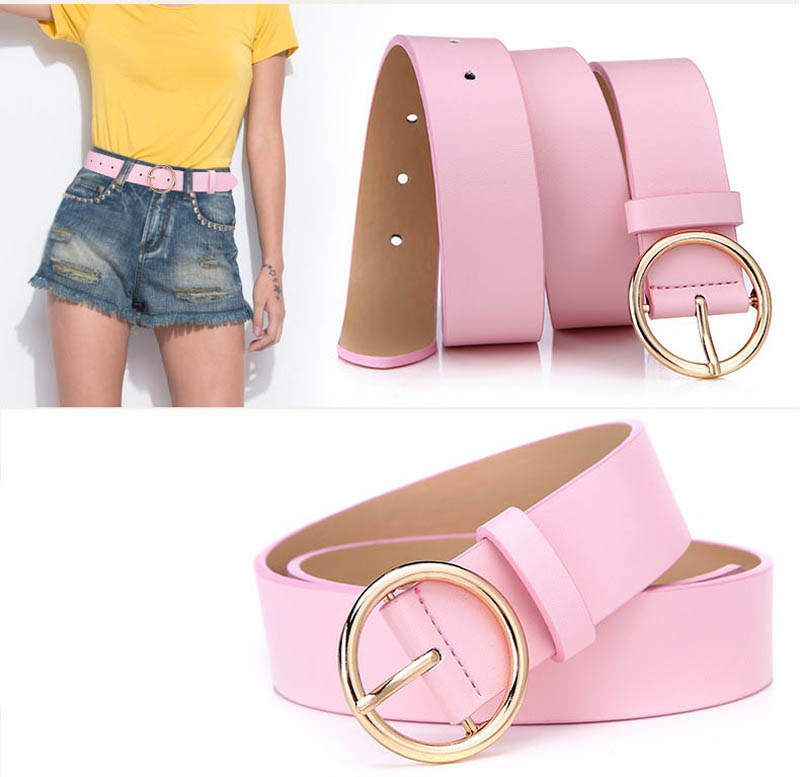Popular elegant woman wholesale PU leather wide belts for coats