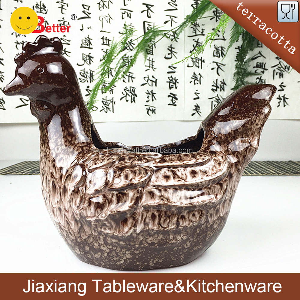 terracotta chinese flower pots chicken decorative