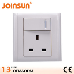 UK socket with big button south africa power strip