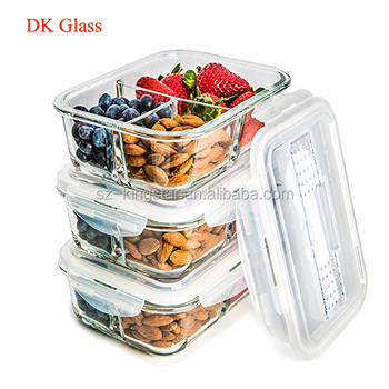 Glass Food Storage Containers With Locking Lids Classy Glass Meal Prep Containers 60 Compartment Food Storage Container