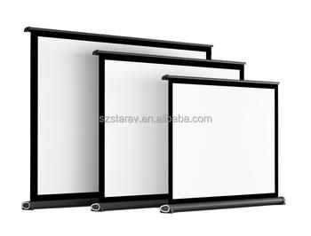 factory wholesale price mini projector screen portable table screen manual screen