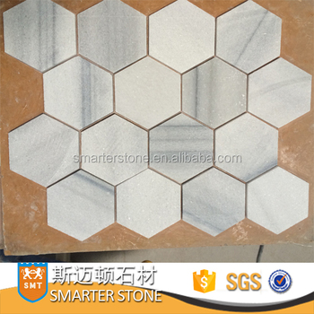 Large Hexagon 3x3 Inches Marble Tile Palissandro Clic Mosaic