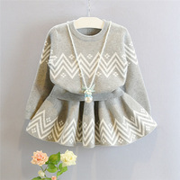 2019 SAutumn And Winter High-end Girls Fashion Casual Set Turtleneck Knit + Short Skirt Two-Piece Set