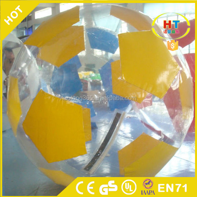 New football style inflatable human hamster ball water walking ball for Kid