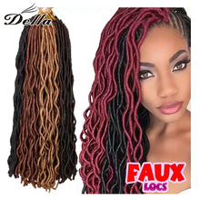 Synthetic Hair Crochet Braids 14inch 2X Havana Mambo Faux Locs