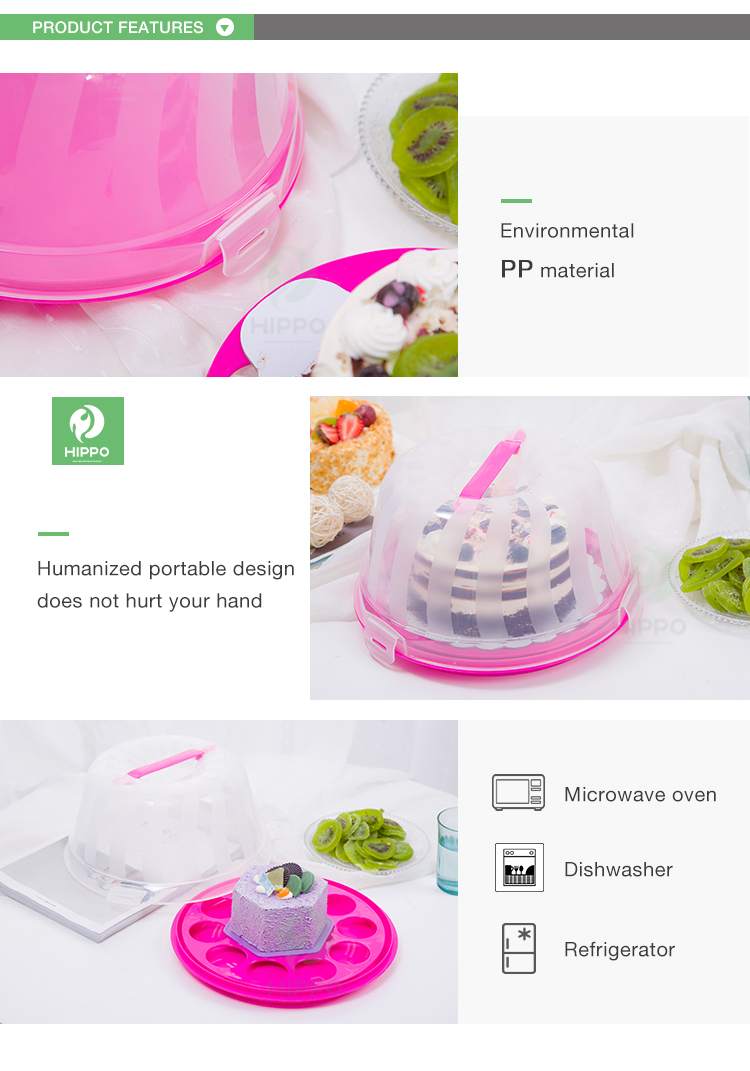 5 inch clear plastic kleine cake carrier containers voor cupcakes