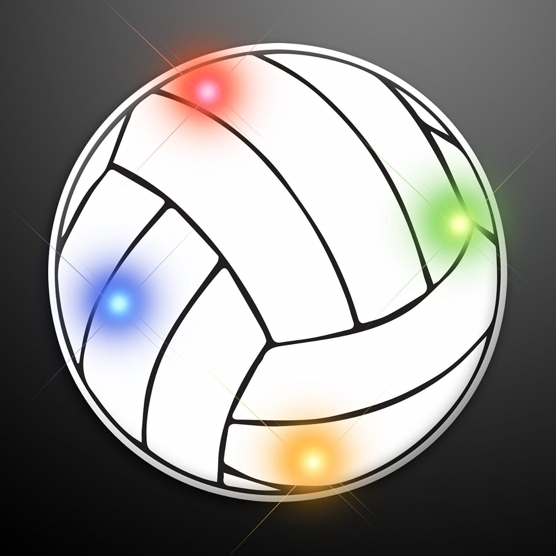 Volleyball Flashing Body Light Lapel Pins
