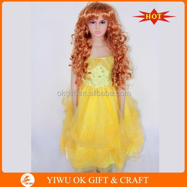 How To Create Belles Hairstyle From Beauty And The Beast : Beauty&beast belle kids fancy dress up costu buy