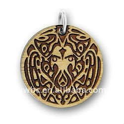 coin twilight wolf pack tattoo wood DIY jewelry pendants lead free,nickel free