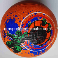 colourful printed Basketball size 7,8 panels ,official size and weight