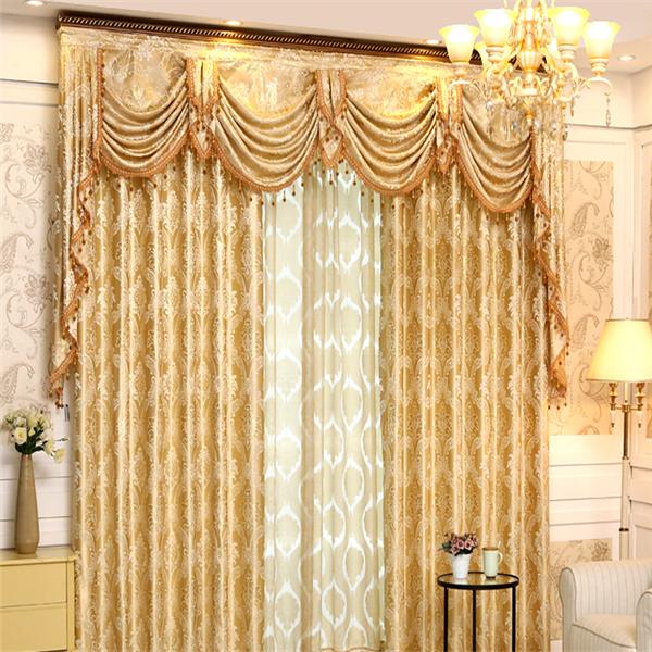 Venta al por mayor y venta al por menor de moda moderna cortinas a juego con cenefa