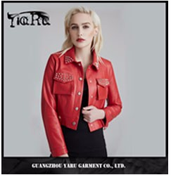 Leather motorcycle jacket design high quality winter jackets women ladies PU jackets coat for women