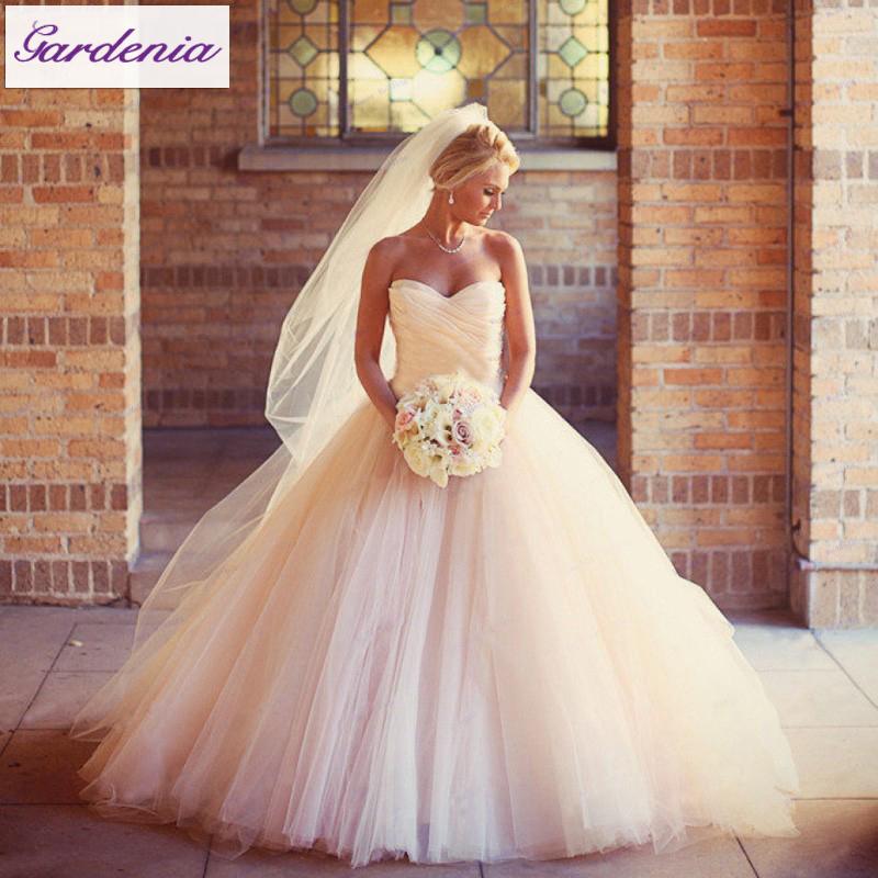 Princess Ball Gown Bridal Dress Open Back Vestidos De