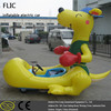 Adult & kid village fete electric ride ons with inflatable model child storage battery car