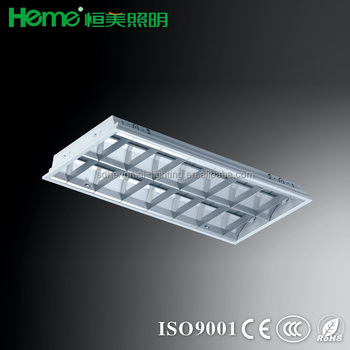 Fluorescent Ceiling Mounted Recessed Light Fixture Lighting Troffer